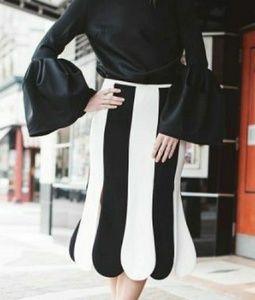 Victoria Beckham Scallop fashion skirt flare